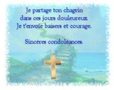 condoléance